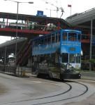 Double-decker tram
