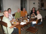 Steve, Kelli, Linda, John, Cindy and our host, Susan